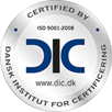 ISO 9001 Certificeret af Dansk Institut For Certificering
