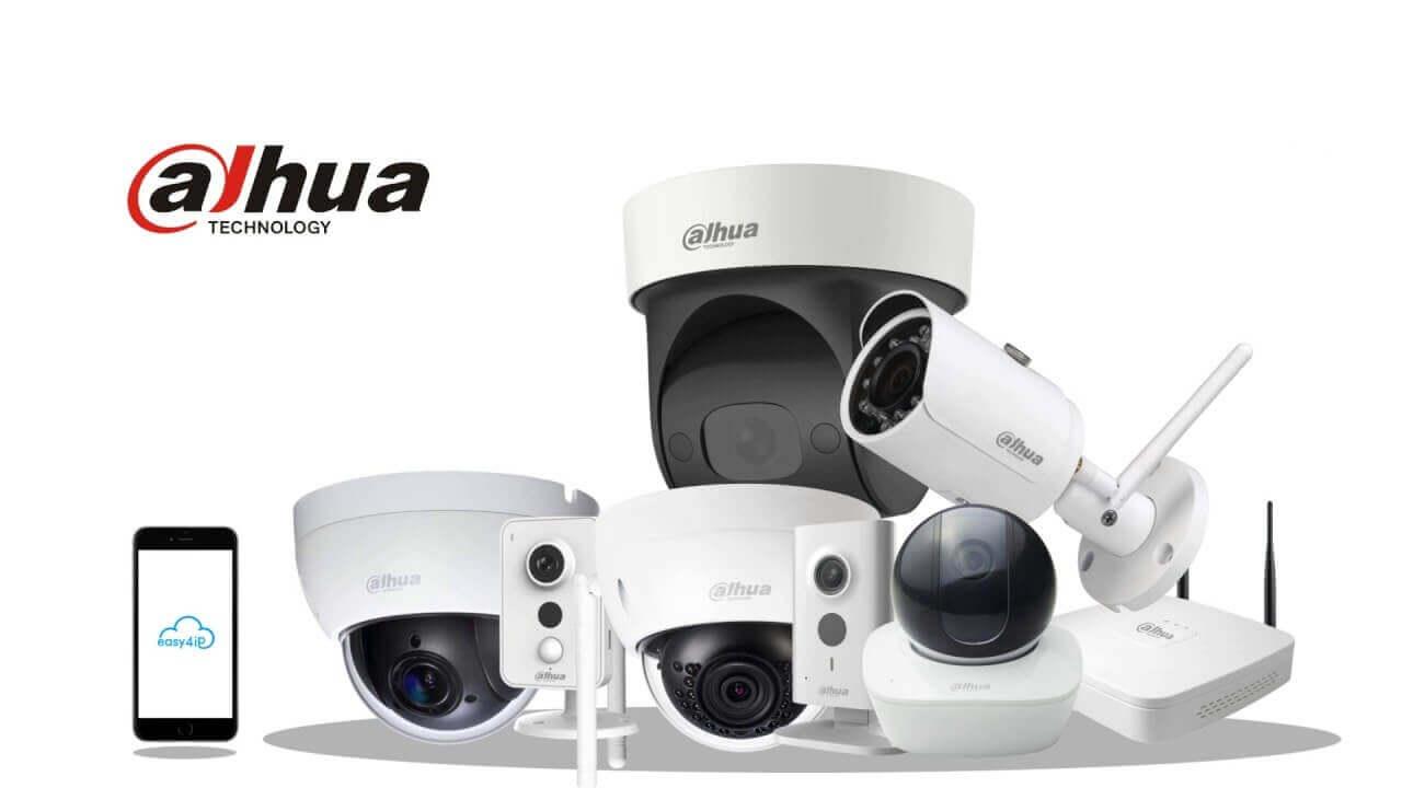 Forskellige Dahua overvågningskameraer til videooverågning